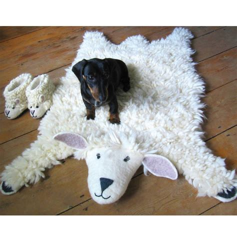 sheep rugs shirley sheep animal rug by sew felt notonthehighstreet