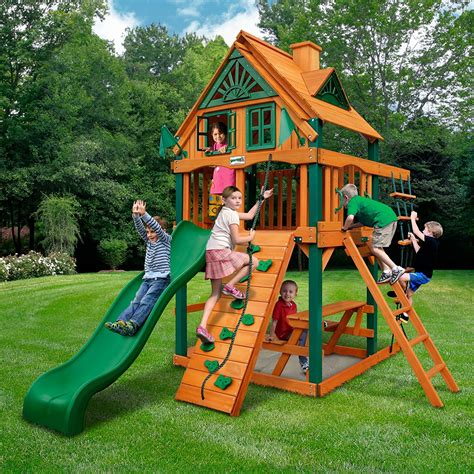 Playsets For Small Backyards by Swing Sets For Small Yards The Backyard Site