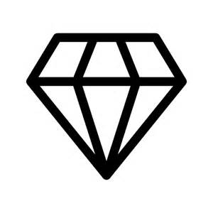 Diamond outlined shape vector icon shapes icons icons download