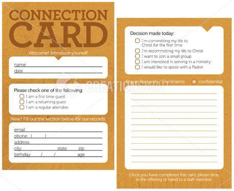 church volunteer info card template 17 best images about church visitor ideas on