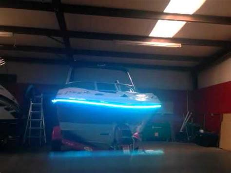 led boat bumper lights rgb lighting on exterior boat rub rail youtube