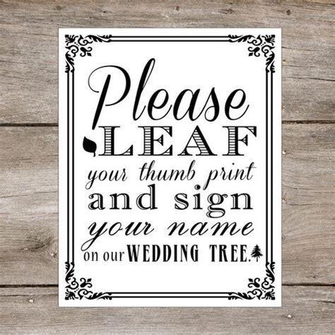 leaves everywhere printable book printable wedding tree thumbprint guest book diy leaf