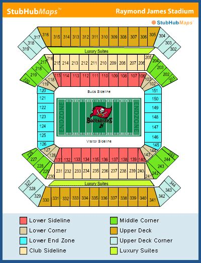 ta buccaneers stadium seating raymond stadium seating chart pictures directions