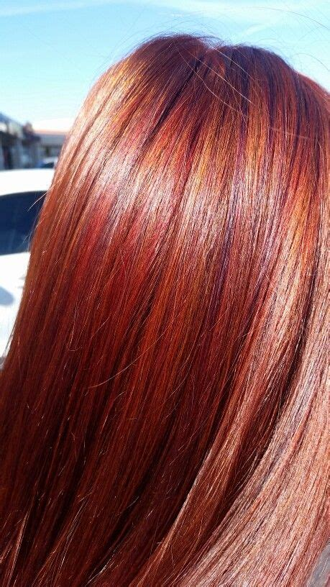 mahogany red hair with high lights spring hair pravana vibrant red highlights and mahogany