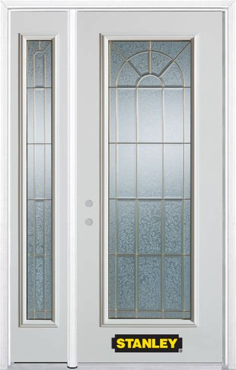 Stanley Exterior Door Stanley Doors 50 In X 82 In Lite Pre Finished White Steel Entry Door With Sidelites And