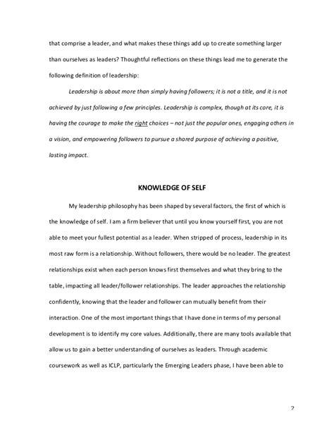 My Leadership Style Essay by Personal Leadership Philosophy