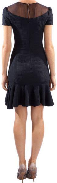 Dress Murah Dress Ricci Navy ricci sheer neck mini dress in blue navy lyst