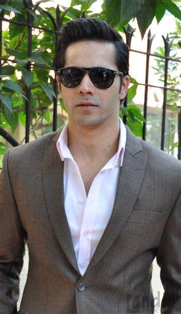 varun dhawan new hairstyle varun dhawan in grey coat style pinterest coats