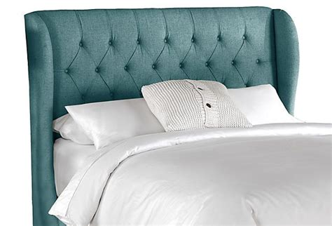 tufted headboard teal