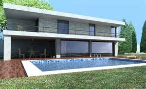 2 story house with pool modern house 3d model cgstudio