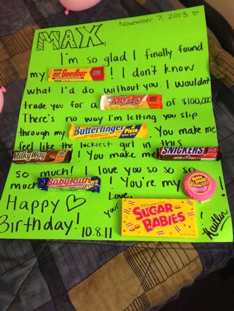 my 23rd birthday gift is the original script of the dark knight rises for my boyfriend on his birthday candy birthday card