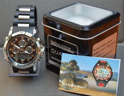 Jam Tangan Edif Dual Time 01 2 jam tangan pria dual time import branded terlaris