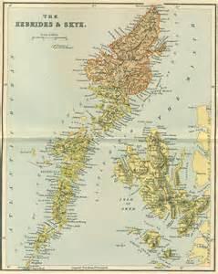hebrides map the hebrides map