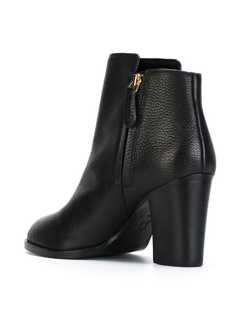 burch black boots burch junction ankle boots in black lyst