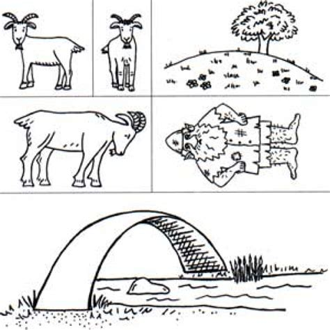 Free Coloring Pages Of Billy Goats Gruff Three Billy Goats Gruff Coloring Page