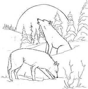 Printable Wolf Coloring Pages For Home And School sketch template
