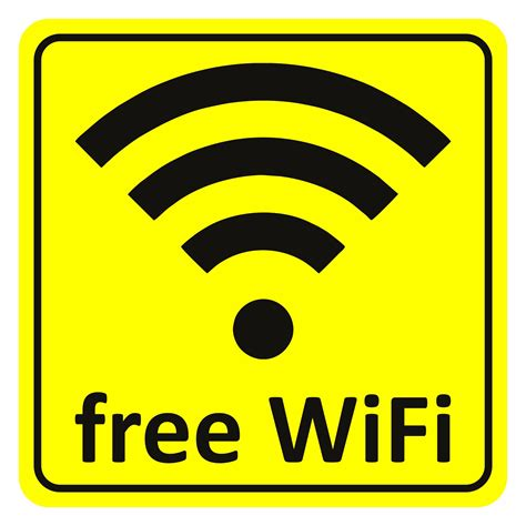 Car Yellow Sticker by Sticker Free Wifi Yellow 65 X 65 Mm Stickers Warn And
