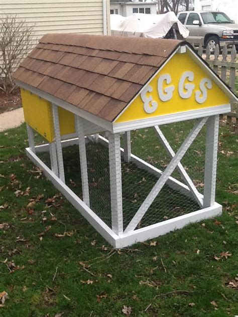 my chicken coop houses 4 6 chickens for the home