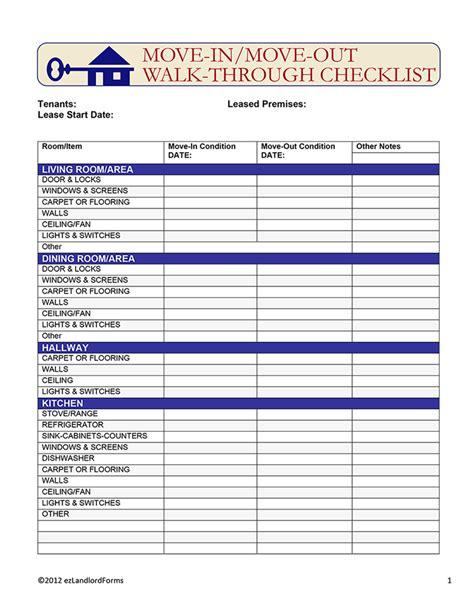 alberta rental walk through checklist ez landlord forms