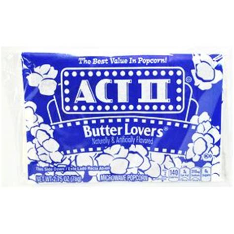 act ii butter lovers popcorn travel size miniature