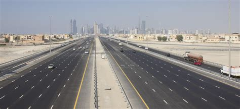 emirates road new highway to connect dubai with abu dhabi and northern