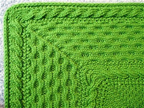 how to knit a mitered corner the knitting process celtic baby blanket