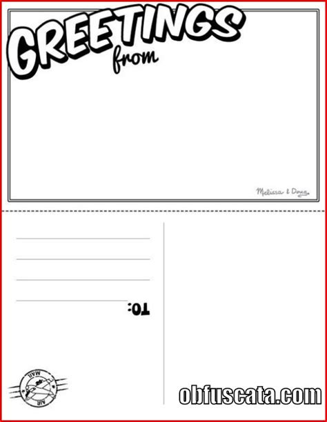 Templates For Postcards by Postcard Template