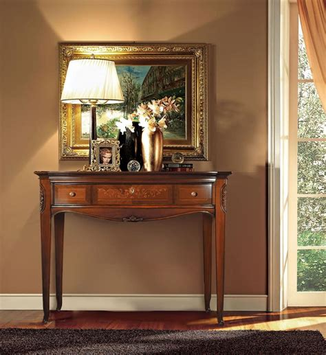 mobili console consolle in legno intagliata a mano stile classico di