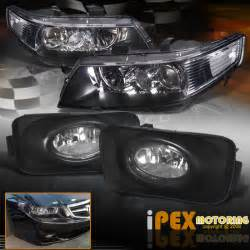 2004 2005 acura tsx jdm black projector headlights w