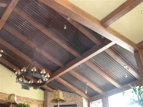 how to install tin ceiling homes with corrugated metal ceiling corrugated metal