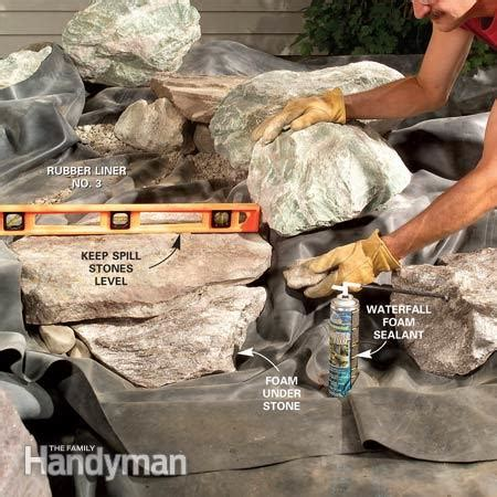 build a backyard waterfall and stream build a backyard waterfall and stream the family handyman
