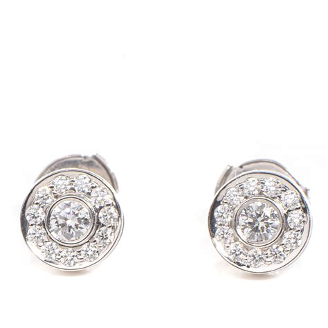 co earrings platinum diamonds large circlet