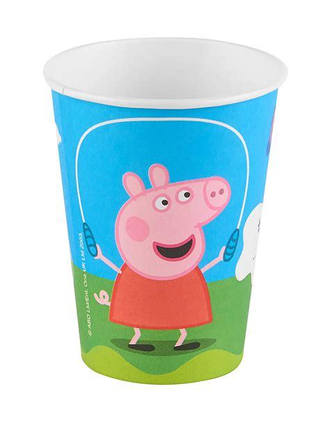 peppa pig piatti e bicchieri 6 bicchieri in cartone peppa pig su vegaooparty negozio