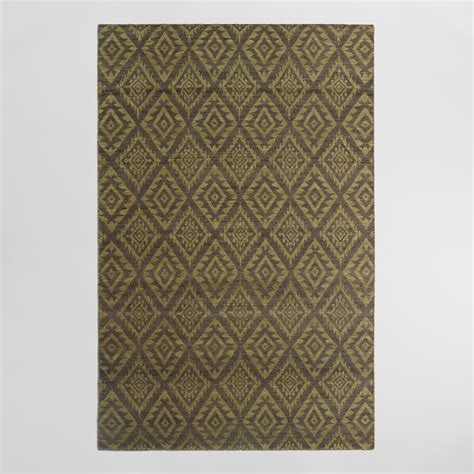 and yellow area rugs 5 x8 yellow and gray flatweave wool galen area rug world market
