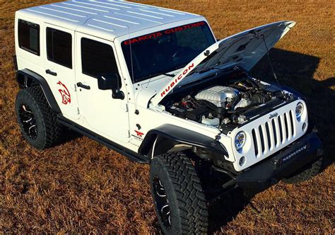 jeep hellcat offroad dakota customs can build you the hellcat powered wrangler