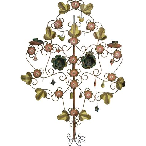 metal tree wall hanging mexican metal tole wall hanging tree of candelbra