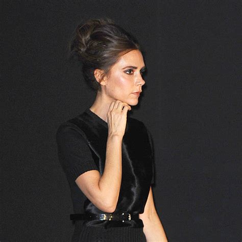 what hair styling product does beckham victoria beckham with a bun hairstyle popsugar beauty