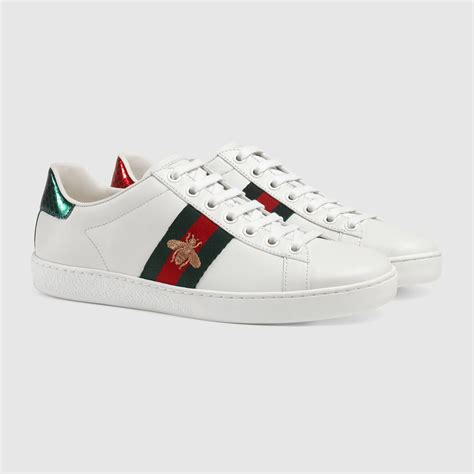 Gucci Ace Embroidered Bee Leather Sneaker Summer 2017 ace embroidered low top sneaker gucci s sneakers 431942a38g09064
