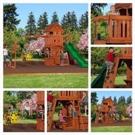 monterey swing swing n slide summer fun swing set with playhouse and