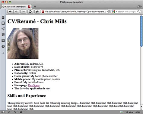 bootstrap tutorial nettuts exle of resume using html tags and attributes resume