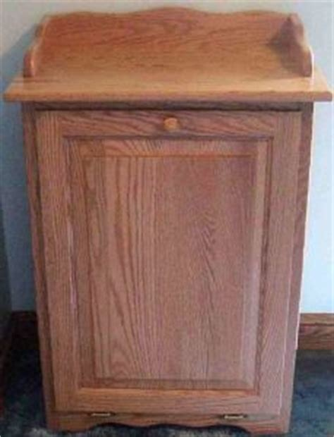 country style trash bin amish pine wood lift top trash bin cabinet stains