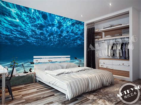 Graffiti Art Home Decor by Mural Wallpaper Beautiful Fantasy Landscape Of Fresh Blue