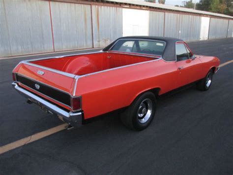 el camino orange seller of classic cars 1968 chevrolet el camino orange