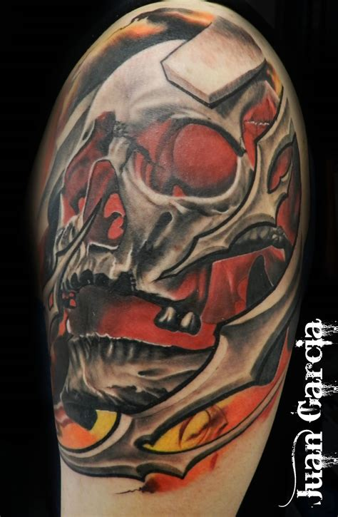 red skull tattoo pin bio organic skull designs pictures on