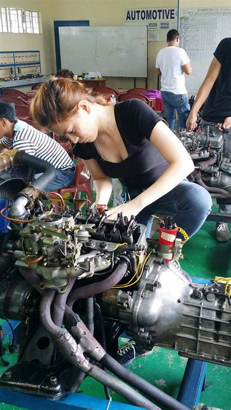 hot female mechanics tantin legaspi meneses hot female mechanic will make your