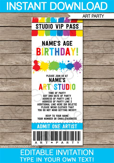 diy tickets template ticket invitations template tickets