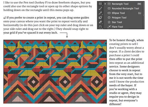 tutorial textile design from the textile design lab complex geometrics design