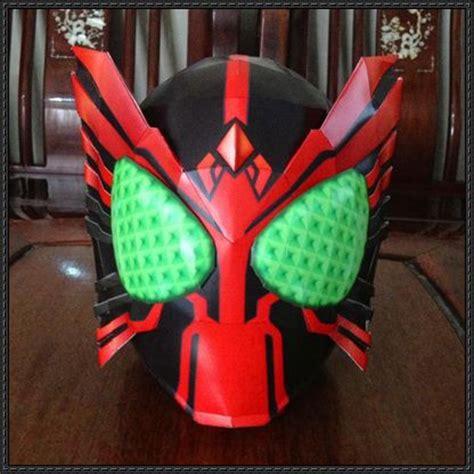 Kamen Rider Helmet Papercraft - size kamen rider ooo helmet papercraft free template