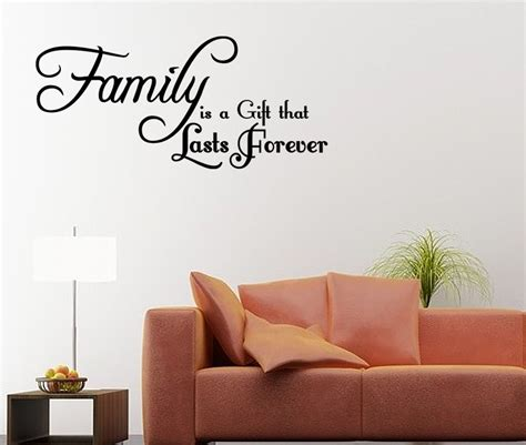 wall stickers family quotes family is a gift that lasts forever wall decal quote wall