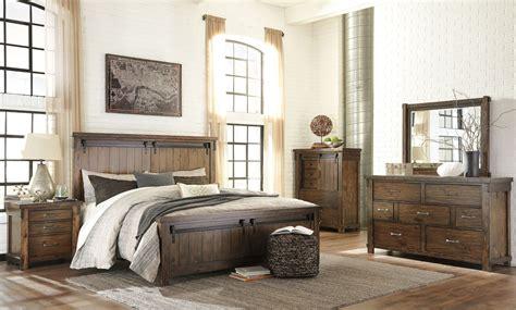 brown bedroom set lakeleigh brown panel bedroom set b718 54 57 96 ashley